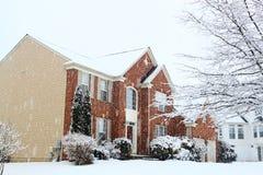House Snow Storm Stock Image
