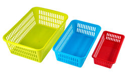 Household storage systems for economic use, multi-colored plasti Stock Photography