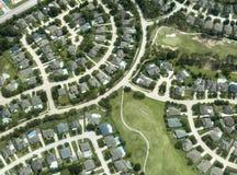 Houses, Homes, Neighborhood, Aerial View Stock Photography