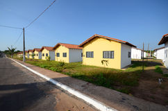 Houses in row Stock Images