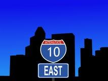 Houston interstate 10 sign Stock Image