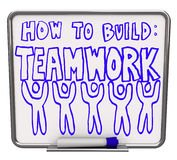 How to Build Teamwork - Dry Erase Board Royalty Free Stock Images