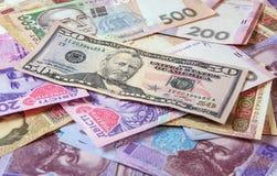 Hryvnia ucraniano do dinheiro A moeda nacional Fotografia de Stock Royalty Free