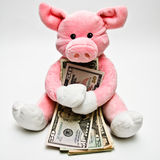 Hugging Money Royalty Free Stock Images