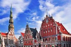Huis van de Meeëters in Riga Royalty-vrije Stock Afbeeldingen
