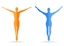 Human body silhouettes Royalty Free Stock Image