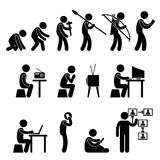 Human Evolution Pictogram Royalty Free Stock Images