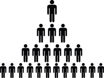 Human pictogram pyramid Royalty Free Stock Image