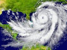 Hurricane between Florida and Cuba Royalty Free Stock Photo