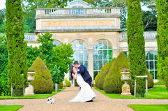 Husband and wife at the palace Royalty Free Stock Photos