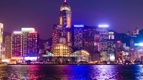 Hyperlapse video of Hong Kong from day to night stock video