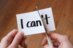 I can self motivation quote Stock Image