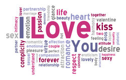 I Love You Word Cloud Stock Image