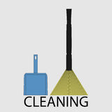 Icône de nettoyage plate Image libre de droits