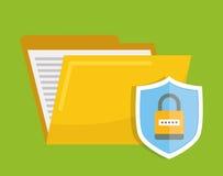 Icônes de graphique d'intimité et de système de sécurité Photographie stock libre de droits