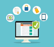 Icônes de graphique d'intimité et de système de sécurité Photos libres de droits