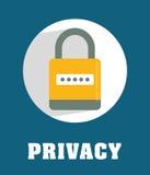 Icônes de graphique d'intimité et de système de sécurité Image libre de droits