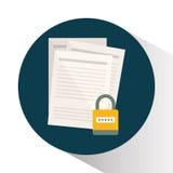 Icônes de graphique d'intimité et de système de sécurité Image stock
