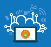 Icônes de graphique d'intimité et de système de sécurité Images libres de droits