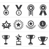 Icon trophy award Royalty Free Stock Images