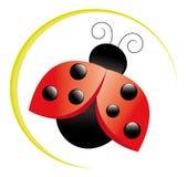 Icona del Ladybug Fotografie Stock Libere da Diritti