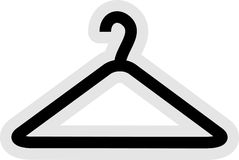Icono de la percha de ropa Imagen de archivo libre de regalías