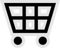 Icono del carro de compras Fotos de archivo libres de regalías