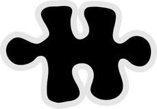 Icono del pedazo de los rompecabezas Imagen de archivo