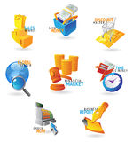 Icons for commerce and retail Royalty Free Stock Photography