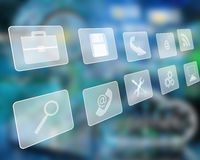 Icons interface Royalty Free Stock Photo