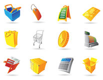 Icons for retail Stock Image