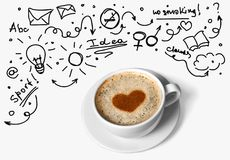 Ideas and Coffee Stock Photography