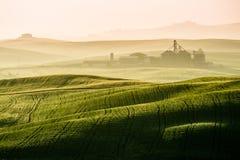 Idyllic view of hilly farmland in Tuscany Stock Photo