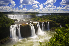 Iguassu Falls is the largest series of waterfalls on the planet Royalty Free Stock Photos
