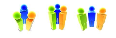 Ikonen-Leute - multi Winkel Stockfotos