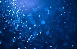 Il bokeh blu accende il fondo Immagine Stock Libera da Diritti