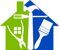 Home tools logo Stock Photo