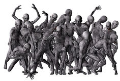 Crowd of zombies Royalty Free Stock Photo