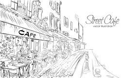 Illustration de vecteur de café de rue Photos libres de droits