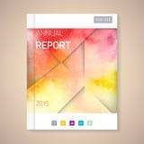 Illustration de vecteur de couverture de rapport annuel  Photo libre de droits