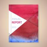 Illustration de vecteur de couverture de rapport annuel  Photographie stock libre de droits
