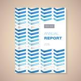 Illustration de vecteur de couverture de rapport annuel  Images stock