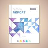 Illustration de vecteur de couverture de rapport annuel  Photo stock