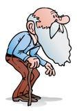 Old man walking Stock Image