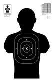 Illustration of a shooting target / shooting range Royalty Free Stock Images