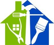 Hemmet bearbetar logo Arkivfoto