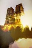 Ilustração de Paris da noite Fotos de Stock