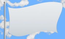 Ilustração de uma bandeira branca Fotografia de Stock Royalty Free