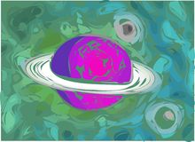 Ilustração do planeta Fotografia de Stock Royalty Free