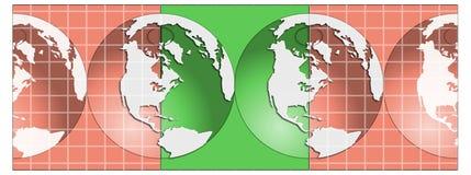 Ilustração dos globos Fotografia de Stock Royalty Free